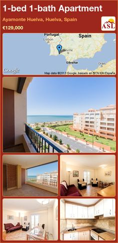 1-bed 1-bath Apartment in Ayamonte Huelva, Huelva, Spain ►€129,000 #PropertyForSaleInSpain