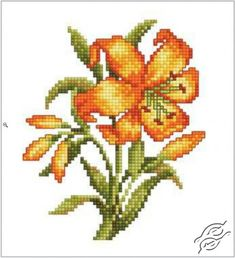 CROSS STITCH KITS - RTO - Cross Stitch Kits - Flowers - Yellow Lily - Gvello Stitch