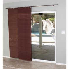 Mahogany Flat Privacy Panel Track Sliding Shade | Overstock™ Shopping - Great Deals on Blinds & Shades