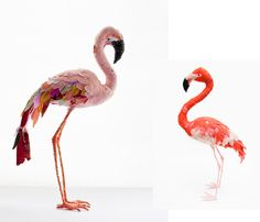 - I'm seeing Flamingo's everywhere and I kinda like it - Images from top to bottom: flamingo sculptures by Abigail Brown, available are everything begins The John James Audubon famous flamingo print in two different ways ... on real bathroom...