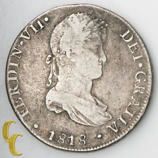 1818-JP Peru 8 Reales (Lima) Silver Coin Very Fine KM#117.1