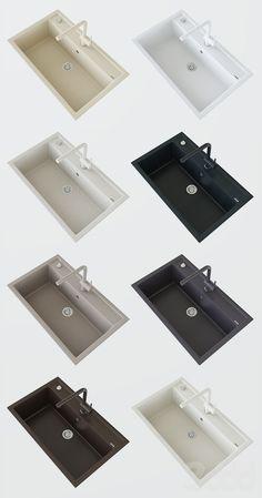 3d модели: Мелочь для кухни - Кухонная мойка Blanco DALAGO 8 и смеситель Blanco LINUS-S