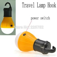 Outdoor Camping Lamp Tent Light Torch Flashlight Hanging Flat LED Light 3 Mode Adjustable Lantern AAA Battery ABS Plastic. | wonderfestgifts.com