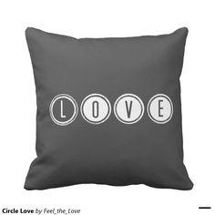 Circle Love Throw Pillows