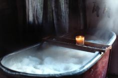 Really long, really hot baths. Like... Scald-y.