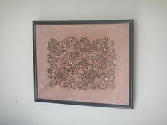 Henna painted canvas by HennaArtbySangita on Etsy, $50.00
