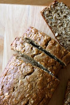 Oatmeal Banana Bread - sub applesauce for the oil
