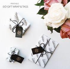 FREE PRINTABLE EID GIFT WRAP & TAGS #free printable #eid gift wrap