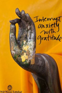 Interrupt Anxiety with Gratitude - Wild Woman Sisterhood Meditation Musik, Attitude Of Gratitude, Gratitude Book, Gratitude Quotes Thankful, Grateful Heart, Osho, Mellow Yellow, No Worries, Mindfulness Meditation
