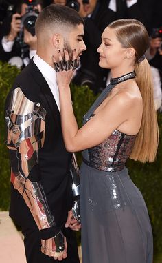 Zayn Malik & Gigi Hadid from Candid Moments From Met Gala 2016  Could they be any cuter together?