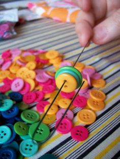 WhiMSy love: Button Bouquet Tutorial