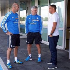 Too many legends in one picture with Ronaldo, Zidane and Ancelotti