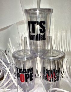 SCANDAL Tumbler w/Straw 3 Designs to Choose by simplysweetaccents, $10.00