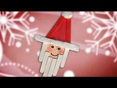 Santa Claus de paletas. Decoraciones navideñas con indicaciones.