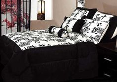 Re decorate your bedroom with this lovely Jacquard motifs set in Black, Off White by Phase 2.