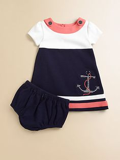 sailor dress - nautical Awww some day! Little Girl Outfits, Little Girl Fashion, Baby Outfits, Kids Outfits, Kids Fashion, Cute Outfits, My Baby Girl, Baby Love, Sailor Dress