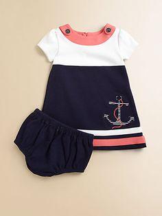 Hartstrings - Infant's Sailor Dress & Bloomers Set