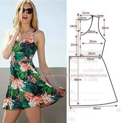 Trendy Sewing Clothes Diy Dress How To Make Ideas Dress Sewing Patterns, Sewing Patterns Free, Clothing Patterns, Pattern Sewing, Free Pattern, Sundress Pattern, Summer Dress Patterns, Fashion Sewing, Diy Fashion