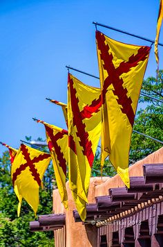 Flags on the Square, Santa Fe, New Mexico