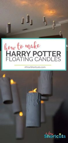 Just like in the dining hall at Hogwarts make your own DIY Harry Potter Floating Candles. This is a super simple craft that will light up the darkest night! diy candles How to Make DIY Harry Potter Floating Candles Harry Potter Halloween, Harry Potter Diy, Deco Noel Harry Potter, Harry Potter Motto Party, Harry Potter Candles, Harry Potter Marathon, Harry Potter Bedroom, Harry Potter Christmas, Diy Home Decor