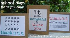 shaken together: {create this} teacher appreciation gift - school days thank you cards & FREE printable