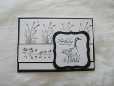 Stampin Up Wetlands I Card, Stampin Up, Birthday Cards, Card Making, Frame, How To Make, Handmade, Decor, Bday Cards