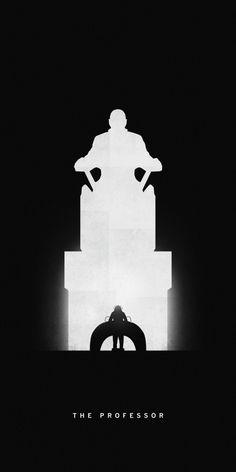 Affiches silhouettes de Khoa Ho - Professeur Xavier