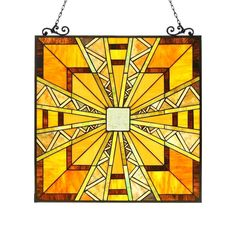 Chloe Lighting Tiffany Style Glass Window Panel CH3P226MI26-GPN #ChloeLighting #StainedGlass