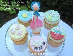 Baby shower Nursery Rhyme Theme, Nursery Rhymes, Cupcake Recipes, Cupcake Cakes, Cupcake Toppers, Rose Cupcake, Lemon Cupcakes, Strawberry Cupcakes, Pink Cupcakes