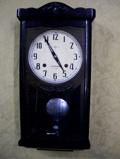 Seikosha 14-day clock, circa 1940's, price: $230 Antique Wall Clocks, Mantle Shelf, Grandfather Clock, Phonograph, Large Clock, Flower Aesthetic, 1940s, Modern, Clocks