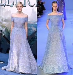 "Elle Fanning looks like Elsa Queen of Snow at ""Maleficent"" Hollywood Première - LaiaMagazine"