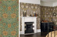 Honeysuckle & Tulip Emerald/Russet från William Morris & Co