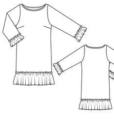 Платье прямого силуэта - выкройка № 126 из журнала 4/2013 Burda – выкройки платьев на Burdastyle.ru