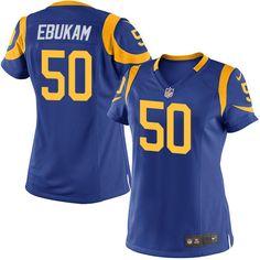 Women's Nike Los Angeles Rams #50 Samson Ebukam Limited Royal Blue Alternate NFL Jersey