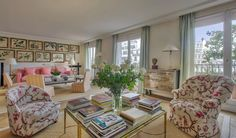 The highly publicized Paris pied-à-terre where Lee Radziwill – the younger sister of the late Jacqueline Kennedy – once lived is for sale. Located on the sixth floor of a building datin…
