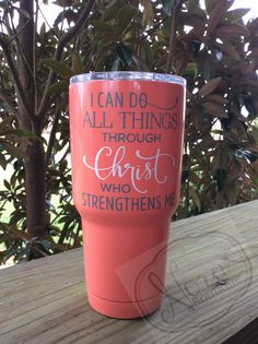 Stainless Steel Tumbler Gloss Coral I by NoraBoutiqueDesigns Mom Tumbler, Tumbler Cups, Tumbler Quotes, Diy Tumblers, Custom Tumblers, Glitter Tumblers, Custom Cups, Yeti Cup, Mugs
