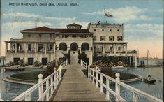 Detroit Boat Club, Belle Isle Michigan Postcard