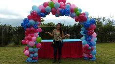 como hacer un arco de globos paso a paso / arch balloons decoración con ...