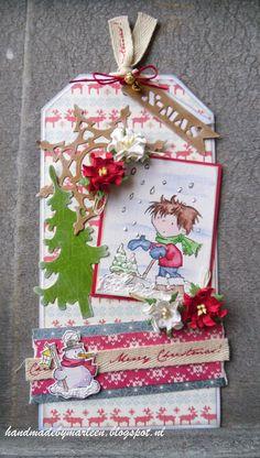 Handmade by Marleen; Christmas Tag