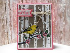 Peanuts and Peppers Papercrafting: Try It Thursday - Stampin' Up! Best Birds Just Because Card