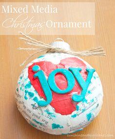 Mixed Media Christmas Tree Ornament