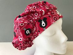 Items similar to Bouffant Scrub Hat - Dog Bandana on Etsy Scrub Hats, Dog Bandana, Scrubs, Cotton Fabric, My Etsy Shop, Cap, Dogs, Fashion, Baseball Hat
