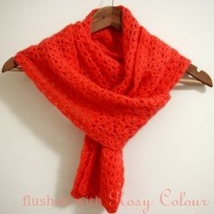 brightly coloured coral scarf at Flushed with Rosy Colour
