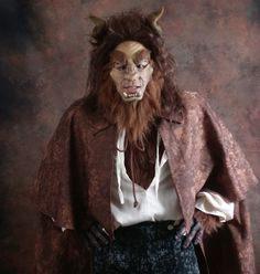 Beauty & the Beast Costumes- beast mask detail