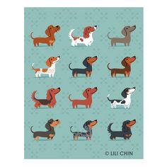 Lili Chin: Dachshunds