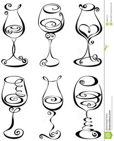 253522cb41eef91a2420d9d53df50903--wine-glass-drawing-white-wine-glasses.jpg 736×913 pixels