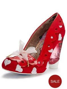 Irregular Choice Hearts On The Line Court Shoes | very.co.uk