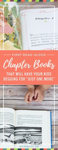 First Read-Aloud Chapter Book Series. These books are the perfect way to introduce your child to chapters. They feature plenty of dialogue, lots of illustrations (most in color!), short chapters, and have engaging stories and characters. And bonus – they