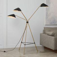 Curvilinear Mid-Century Floor Lamp #westelm