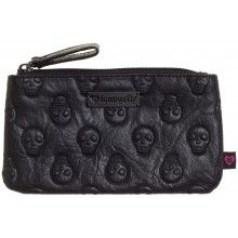 LOUNGEFLY EMBOSSED SKULL PENCIL CASE
